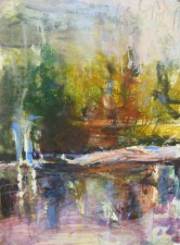 water and land 22x28 oil on paper