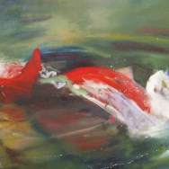 sockeye 48x22 oil on canvas on board