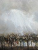 orchard nocturnal, 36x42, oil encaustic on panel