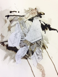 Newfoundland residency drawings, maps, ink, ecology #3